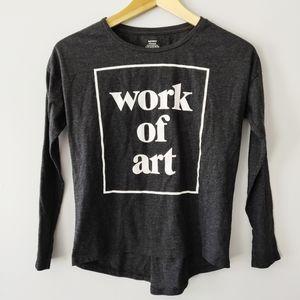"Girls ""Work of Art"" relaxed cotton top"